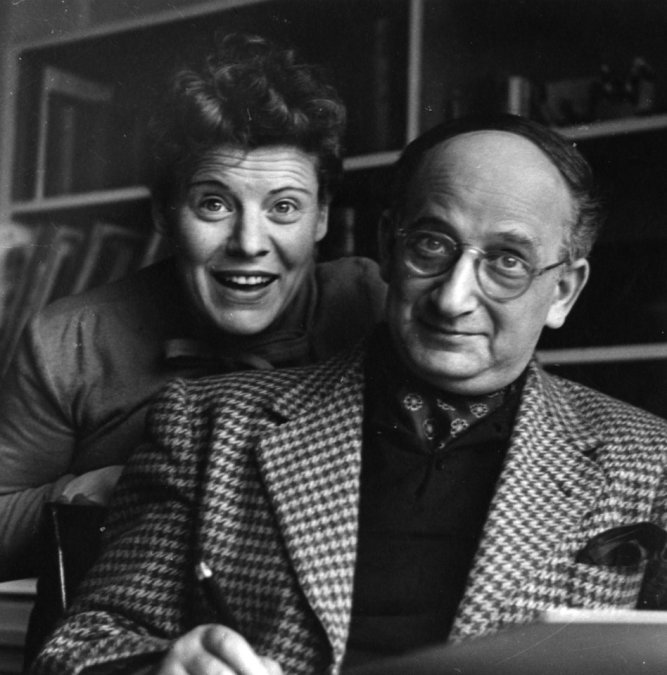 "** FOR ONE-TIME USE ONLY WITH ANN LEVIN'S STORY SLUGGED: CURIOUS GEORGE ** In this 1940s image released by The Jewish Museum, Margret Rey, left, and her husband H.A. Rey, creators of the ""Curious George"" children's books, are shown. (AP Photo/The Jewish Museum, H. A. & Margret Rey Papers, de Grummond Children's Literature Collection, McCain Library and Archives, The University of Southern Mississippi) ORG XMIT: NYET526"