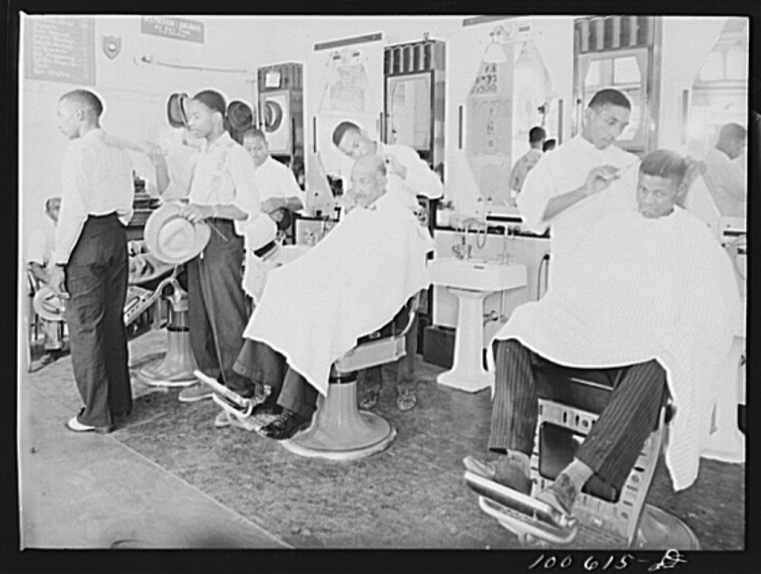 Washington, D.C. Negro barbershop on U Street, N.W.