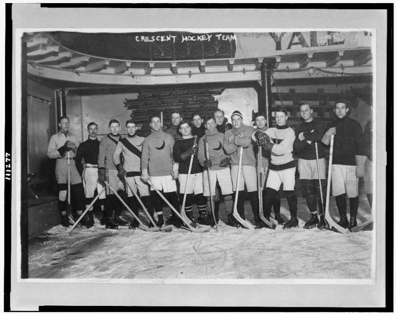Crescent hockey team - champions of amateur league in New York.