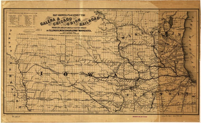 Galena & Chicago Union Railroad 1862