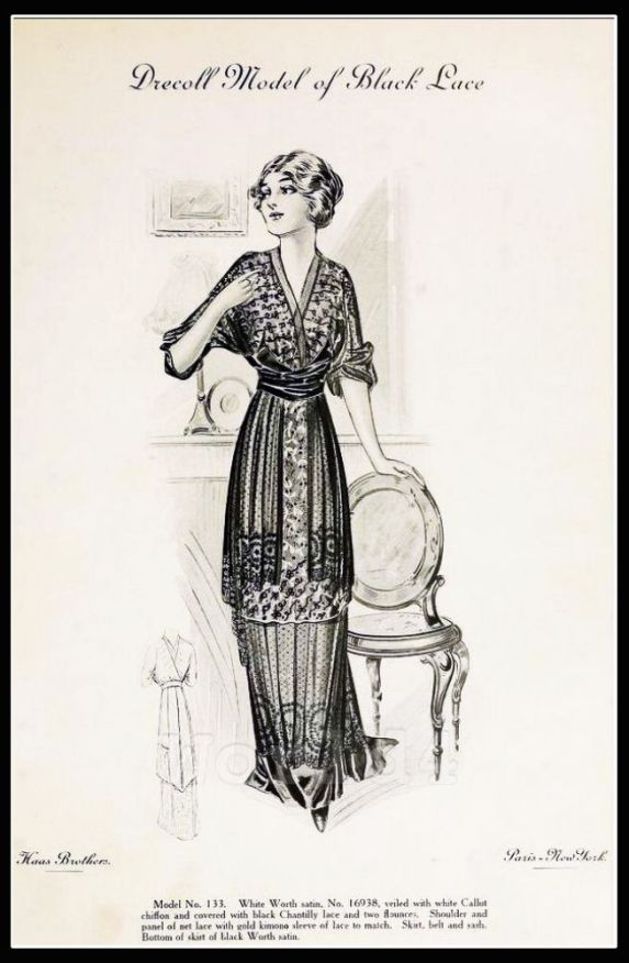 Drecoll_Model_of_Black_Lace._Paris_Spring_Season_1913