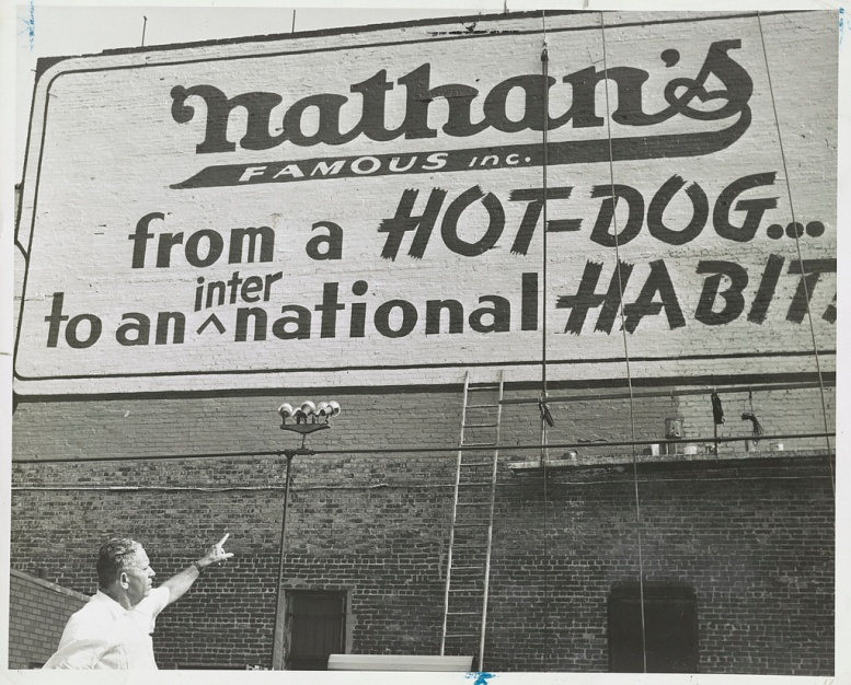 From a hot dog to an international habit Nathans Sign