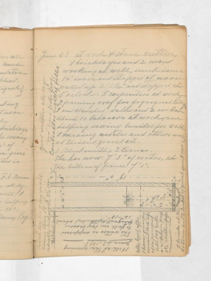 Grays Harbor Lighthouse Construction Logbook, Page 18.